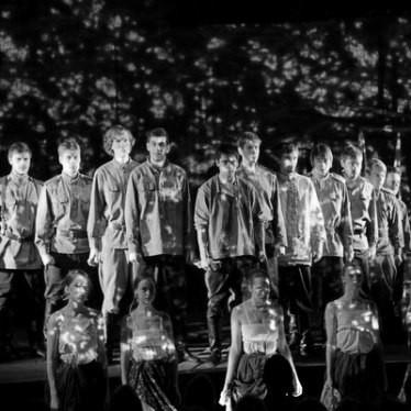 Участники актерской труппы спектакля театра «Мастерская» «Тихий Дон»